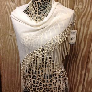 New Macy's Collection XIIX Coverup Wrap Fringe